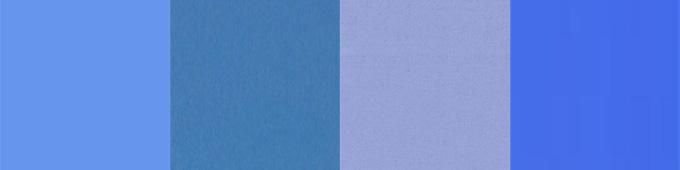 Verschiedene Blautöne